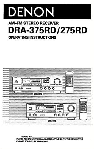 Denon dra-375rd / 275rd receiver operating instructions same day.