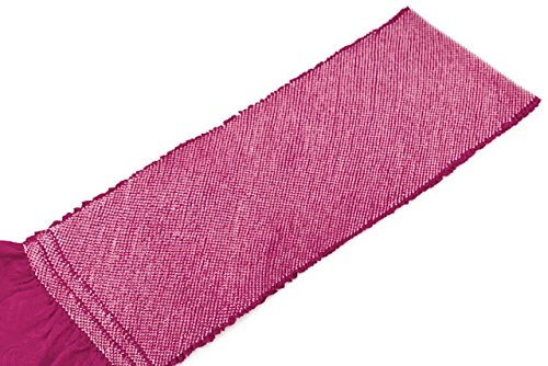帯揚げ 赤紫色 パープル 正絹 四つ巻 無地 総絞り 鹿の子 帯あげ おびあげ 成人式向き 振袖向き ふりそで