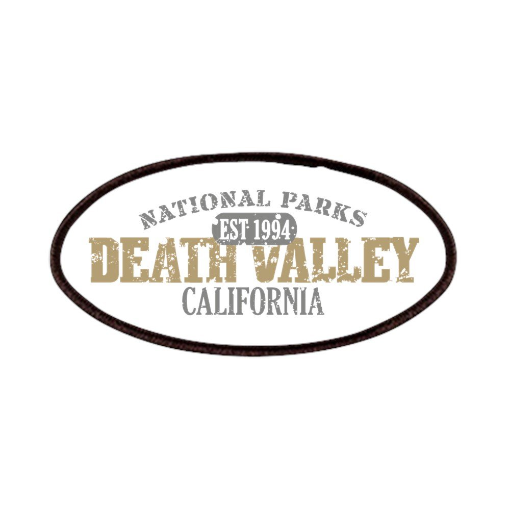 CafePress - Death Valley National Park CA Patches - Patch, 4x2in Printed Novelty Applique Patch