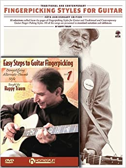 Happy Traum Fingerpicking Pack: Includes Fingerpicking Styles for Guitar book and Easy Steps to Fingerpicking Guitar DVD by Happy Traum (2010-06-18)