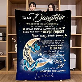 Flannel Blanket to My Daughter from Mom Dad Blanket I Love You Personalized Custom Gifts Ultra-Soft Micro Light Weight…