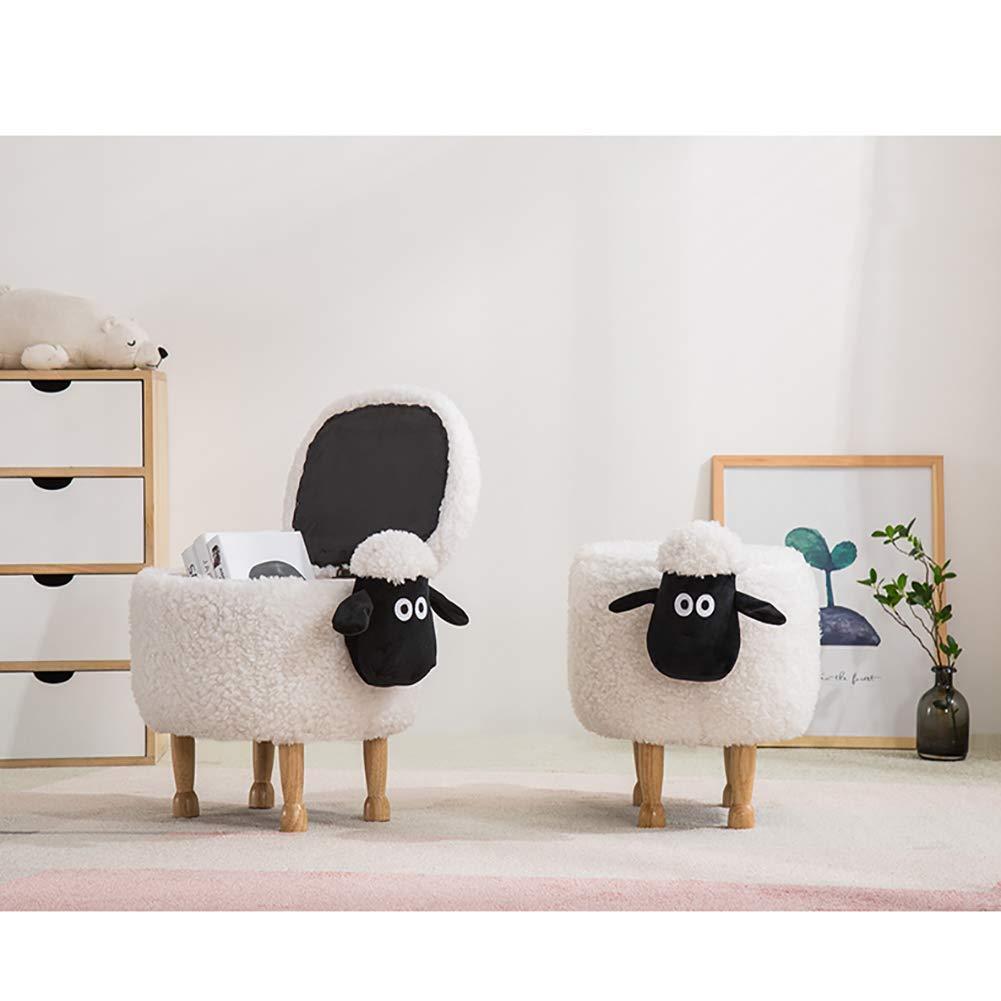 Jij Shaun Le Mouton Pouf Tabouret de Rangement Animaux Canap/é Repose Pied Mignon Enfants Chaises
