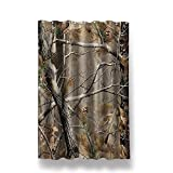 Anne Home Custom Camouflage Tree Blackout Window Curtain Panel 52″x63″ (One Piece) Fabric for Bedroom/Home For Sale