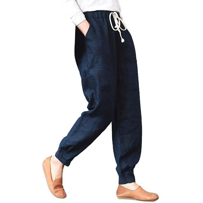 Sylar Pantalones De Mujer con Cinturon Elegantes, Moda Color ...