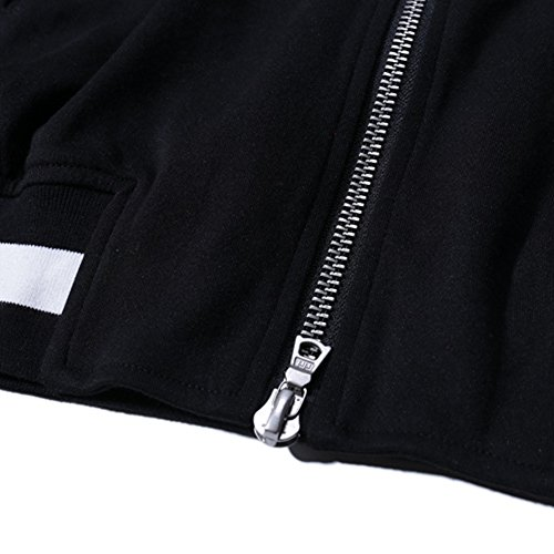 Adult 80store Leisure Jacket Coat Men Women Unisex Baseball Cotton Top Negro gxzqXgEd