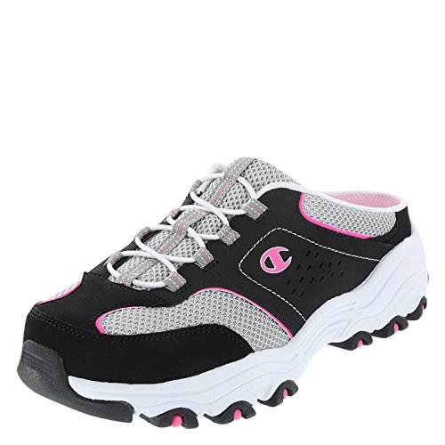 Champion Black Pink Women's Margaret Mule Sneaker 7.5 Regular (Flats Champion)