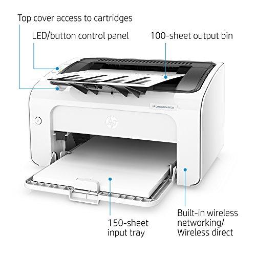 Impresora láser inalámbrica HP Laserjet Pro M12W (T0L46A): Amazon ...