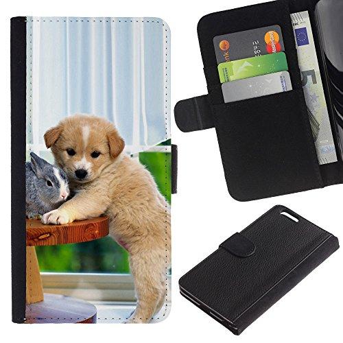 BLOKK CASE / Apple Iphone 6 Plus 5.5 / Labrador retriever Golden Sunset océan chien / Mince Noir plastique couverture Shell Armure Coque Coq Cas Etui Housse Case Cover