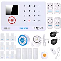 OWSOO Home Wireless Alarm Security 433MHz Wireless Auto-dial 3G SMS Alarm Security System Water Door Sensor LCD Display Wired & Wireless Siren Kit Phone App Remote Control