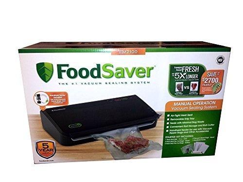 FoodSaver FM2100 Vacuum Sealing System new bag saving technolog - includes Handheld Sealer (Sealer Fm2100 Foodsaver Vacuum)