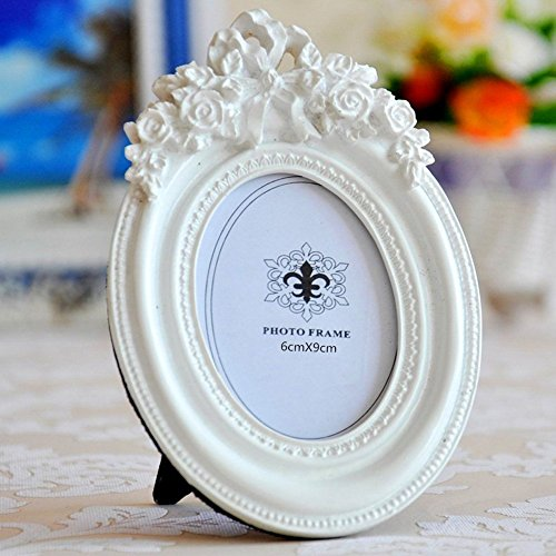 Giftgarden 2.5x3.5 Oval Picture Frame White Frames Wedding G