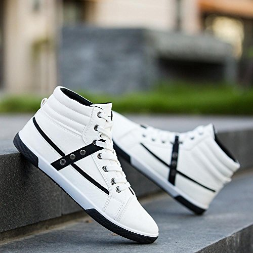 Clearance❤️Men Shoes, Neartime Fashion Men Autumn Leather Footwear Boots High Top Lace-Up Casual Hiking Shoes by Neartime Sandals (Image #3)