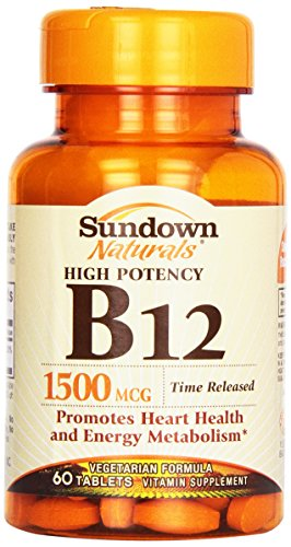 Sundown, B-12 1500 Mcg Time Release Tablets, 60 ct