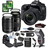 Canon EOS 80D DSLR Camera Bundle with Canon EF-S 18-135mm f/3.5-5.6 IS STM Lens + Tamron Zoom Telephoto AF 70-300mm f/4-5.6 Macro Autofocus Lens + 2 PC 32 GB Memory Card + Camera Backpack + Flash