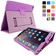 iPad Air 2 Case, Snugg - Purple Leather Smart Case Cover [Lifetime Guarantee] Apple iPad Air 2 Protective Flip Stand Cover with Auto Wake / Sleep