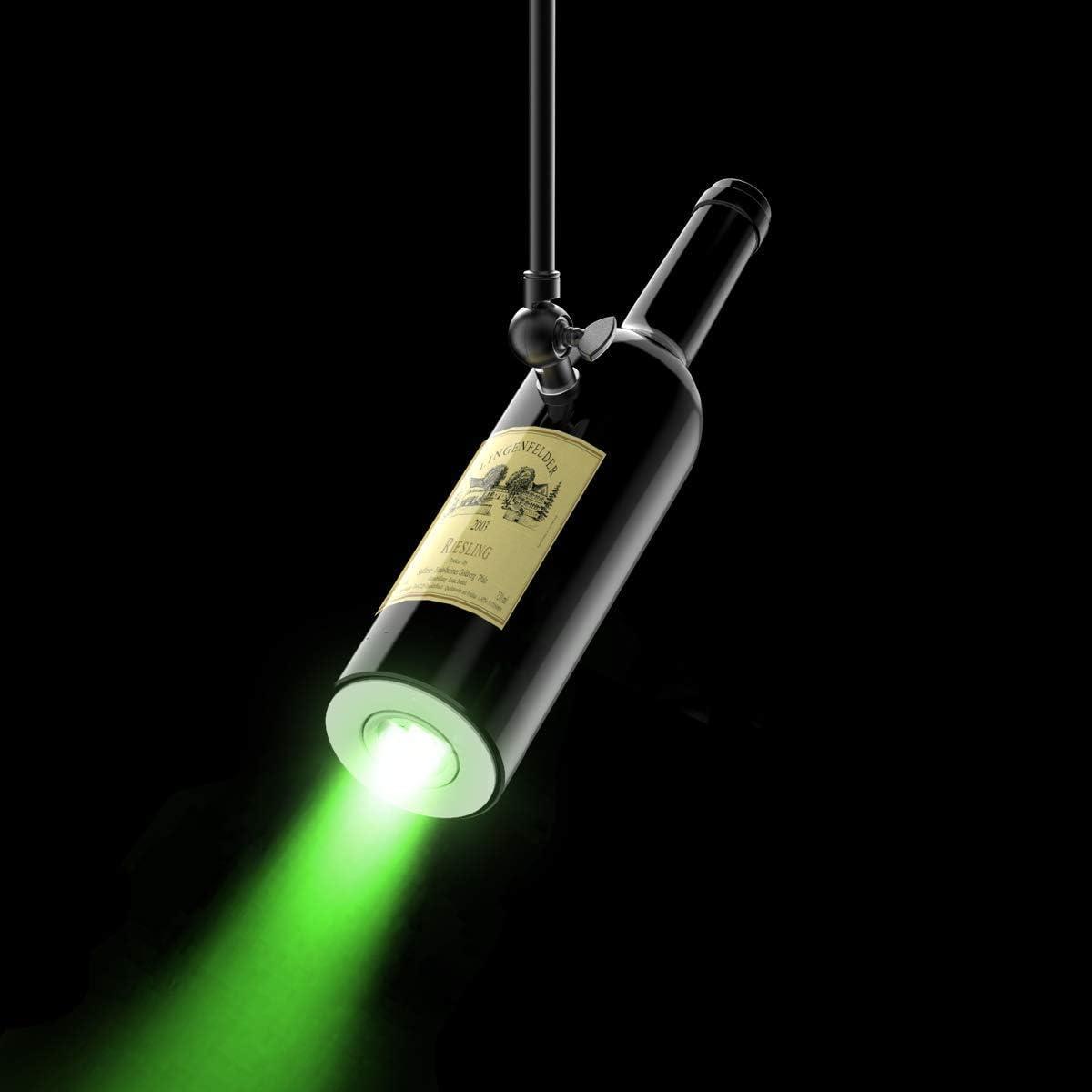 HSL Spot Lights Indoor Track Chandelier Iamps Wine Bottle are Used for Indoor LED Decorative Lights, Wine Cabinets, Bars, Nightclubs (Mint Green)