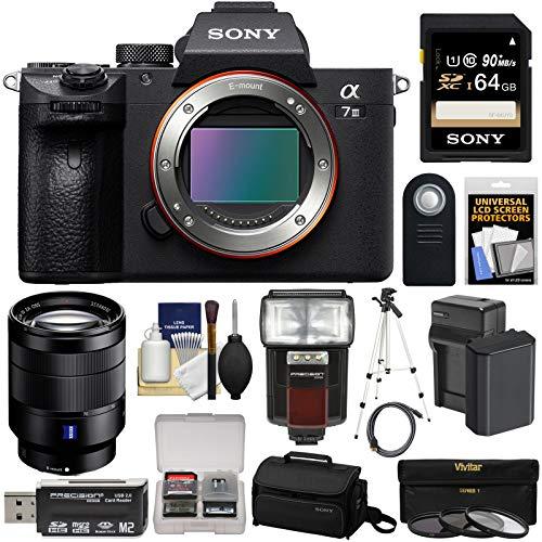 Sony Alpha A7 III 4K Digital Camera Body with FE 24-70mm f/4