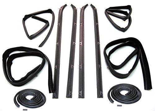 Outer Door Belt - Fairchild Automotive KD1002-10A Weatherstrip Kit (Front Inner & Outer Belt, Upper Channel & Division Bar Channel Kit, Door Seal Kit, Driver Side & Passenger Side)