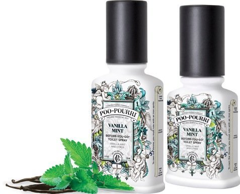 Poo-Pourri Preventive Bathroom Odor Spray 2-Piece Set, Includes 2-Ounce and  4-Ounce Bottle, Vanilla Mint