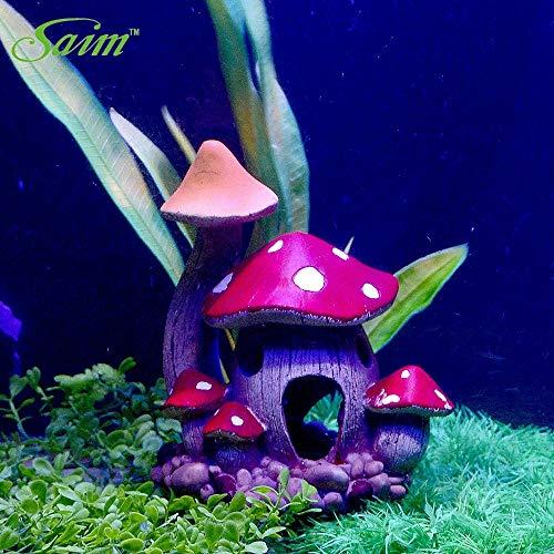 EZ Party Saim Resin Mushroom Toadstool Dots Fairy Garden Decoration-Aquarium& Decoration