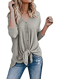 Womens Cardigans Casual Lightweight V Neck Long Sleeve Cardigan Sweaters with Buttons