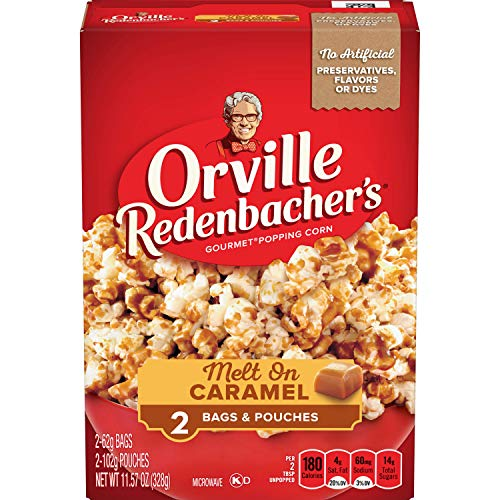 Orville Redenbacher's Melt On Caramel Microwave Popcorn, 2.19 Ounce Classic Bag, 2-Count, Pack of (Best Caramel Popcorns)