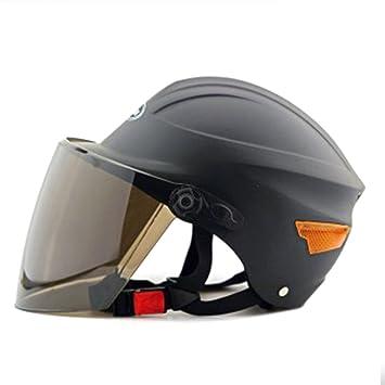 Casco de seguridad para moto de moto, moto, scooter, 302, color negro
