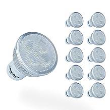 ChiChinLighting Gu10 Daylight Pure White LED Gu10 Light Bulbs Pack of 10 Pieces Gu10 Spotlight 6000k (10 Pieces Daylight)