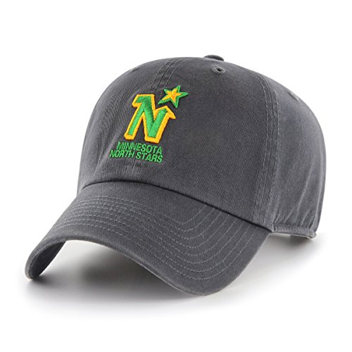 NHL Minnesota North Stars Male OTS Challenger Adjustable Hat, Dark Charcoal, One Size