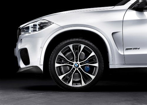 """Price comparison product image BMW X5 (E70) with M Performance Parts (2013) Car Art Poster Print on 10 mil Archival Satin Paper White Front 1/4 Panel Studio View 24""""x18"""""""