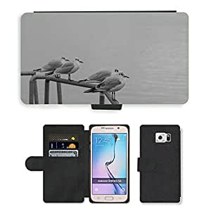 PU LEATHER case coque housse smartphone Flip bag Cover protection // M00134210 Gaviota Seemoeve Animales Voegle // Samsung Galaxy S6 (Not Fits S6 EDGE)