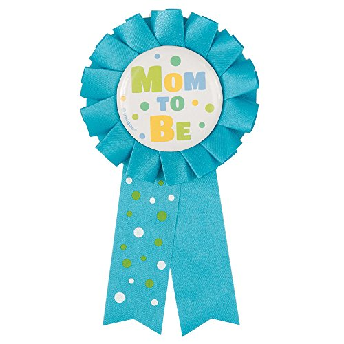 Blue Mom To Be Baby Shower Award Ribbon Polka Dots Party Supplies ()