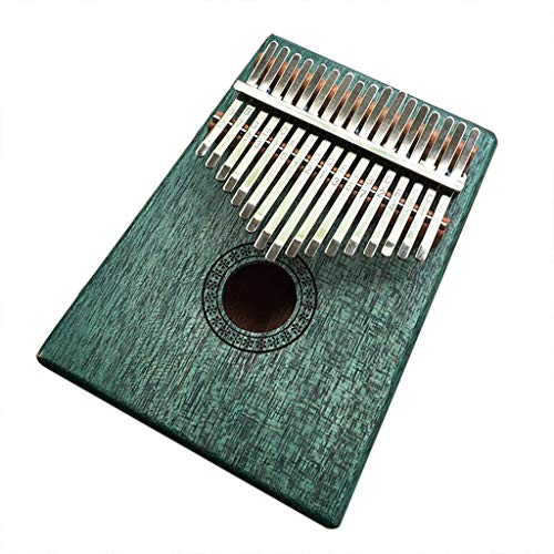 Kalimba 17 keys Portable Thumb Piano-Vovomay Mbira Sanza Mahogany Body Ore Metal Tines (D)