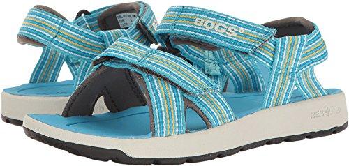 Bogs Kids/Toddler Rio Watersports Athletic Boys and Girls Sandal, Stripe/Light Blue/Multi, 1 M US Little - Waterproof Blue Sandals