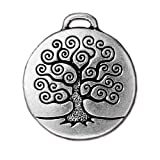 Tree of Life Pendant by TierraCast (4 pieces, Antiqued Silver Plate)