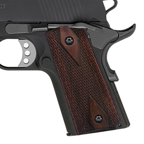 Black Diamond Cut Grip (Cool Hand 1911 Compact/Officer Rosewood Grips, Diamond Cut Texture)