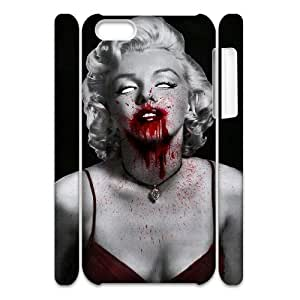 Custom Cover Case with Hard Shell Protection for ipod touch 4 touch 4 3D case with Skull Marilyn Monroe lxa#911658