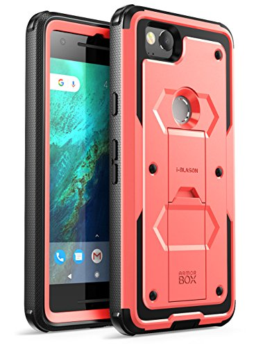 i-Blason Case for Google Pixel 2 2017 Release, [Armorbox] Built-in [Screen Protector] [Full Body] [Heavy Duty Protection ] [Kickstand] Shock Reduction/Bumper Case(Pink)