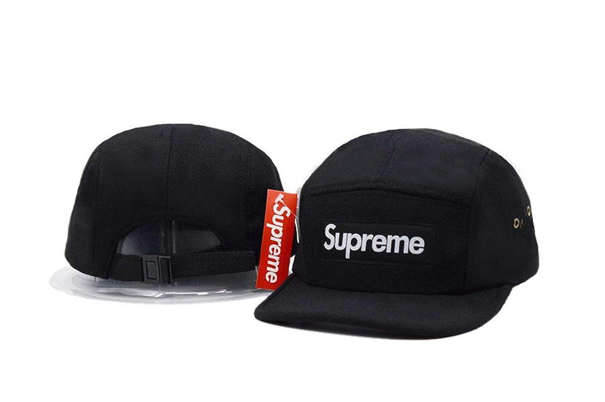 SUPREME Adjustable Cap Mens Baseball Snapback Hats Black 6 One Size   Amazon.ca  Clothing   Accessories b31ff59035e