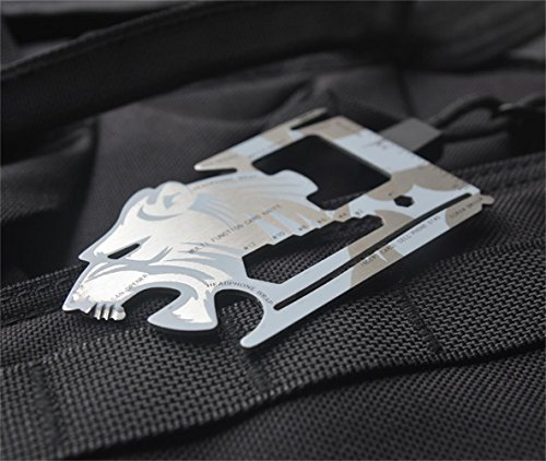 Wild-Tribe-Tiger-shape-18-in-1-Multifunction-Tool-EDC-Pocket-Card-Outdoor-Camping-Wallet-Survival-Stainless-steel-Knife