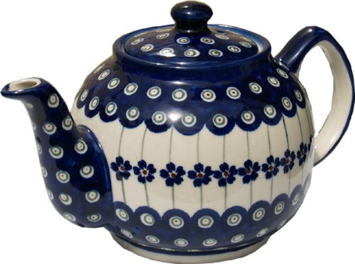 polish pottery teapot with warmer - 9