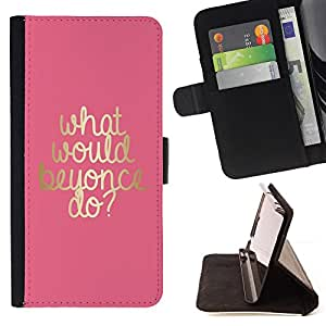 - Queen Pattern FOR Samsung Galaxy S5 V SM-G900 /La identificaci????n del cr????dito ranuras para tarjetas tir????n de la caja Cartera de cuero cubie - what would musician do gold