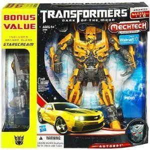 Transformers 3 Dark of the Moon Exclusive Leader Class Mechtech Action Figure Bumblebee Includes Deluxe Class Starscream Vehicle