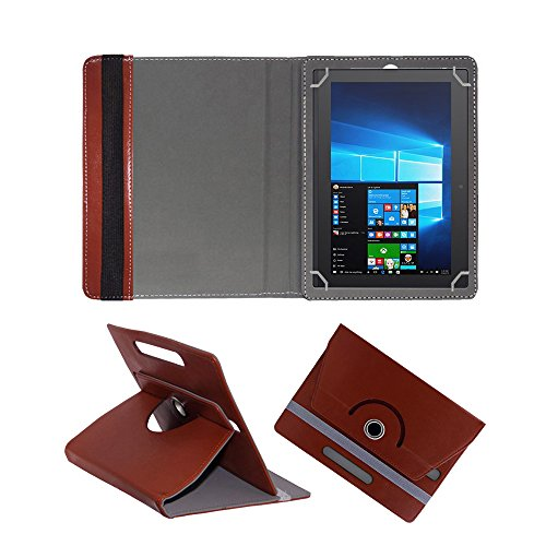 Fastway 360 Degree Rotating Tablet Book Cover for Lenovo Miix 320 10 #34;  Brown
