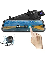 """10"""" Rearview Mirror Camera Backup Camera Mirror Dash Cam Full Touch Screen with Loop Recording, Backup Mirror1080P Streaming Media DVR 170° Wide Angle Night Vision, Parking Reversing Camera"""