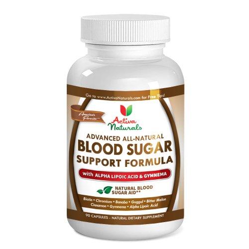 # 1 Sang de soutien à sucre Supplément - avancée Blood Sugar Support Formula - Formulé avec All Natural acide alpha-lipoïque, le chrome, le Gymnema, melon amer et d'autres ingrédients attachés au maintien de la glycémie Niveau naturellement - 45 jours d'a