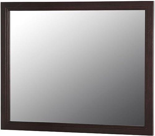 Home Decorators BWWM26-CH Brinkhill 25.6 in. L x 31.4 in. W Wall Mirror in Chocolate