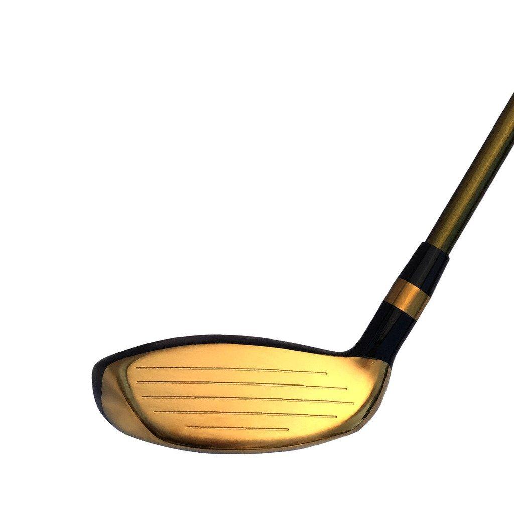 Japan WaZaki 14k Gold Finish Cyclone 4-SW Mx Steel Hybrid Irons Golf Club Set + Headcover (pack of 16) by wazaki (Image #4)