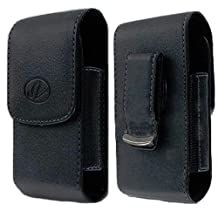 Vertical Leather Belt Clip Swivel Case Cover for Samsung RUGBY 3 III SGH-A997