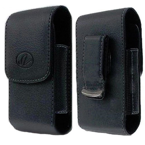 Black Vertical Leather Belt Clip Case Pouch Cover for AT&T LG A340 Brand NEW!! (Lg A340 Phone Case compare prices)